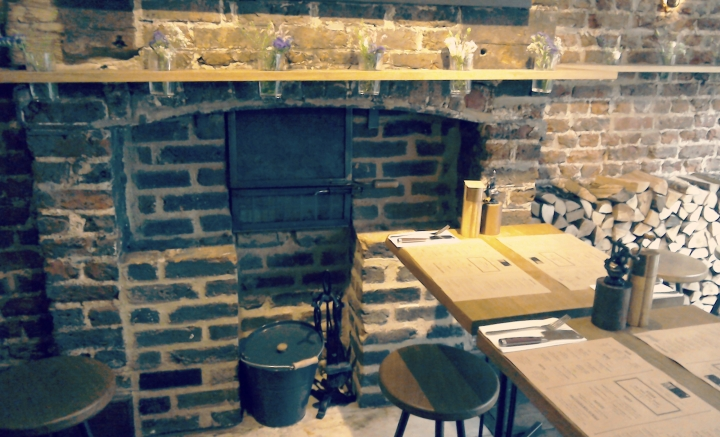 It smelled like an old country cottage. There was a fireplace and little jars of flowers. Plus, £10 steaks. SOLD.